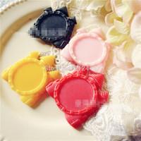 20pcs Mixed colors Victorian Resin Cameo Setting Cabochon,25mm Settings Kawaii Decoden