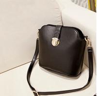 Women's  cross-body bucket bag vintage women messenger bag female leather handbags Shoulder small bags