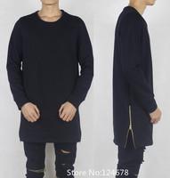 cool side zipper sweatshirt streetwear men hip hop skateboard slim fit brand homme femme mens big and tall hba pyrex hoodie