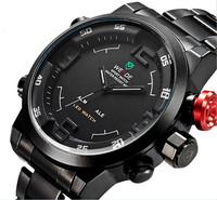 relogios de luxo homens marca WEIDE Analog & Digital Display Military Watch Men Full Stainless Steel Sport Watches Relojes AB046