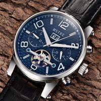 Switzerland business men free shipping famous brand watch waterproof automatic mechanical watch tourbillon movement Wristwatch