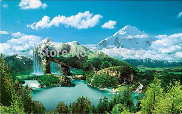 5D diamant bricolage peinture cristal de point de croix motif naturel wonder diamant broderie peinture strass Home Decor DP-1564(China (Mainland))