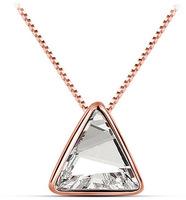 Austrian crystal necklace pendant triangle - Secret roof ornaments 1341