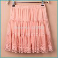 Han edition of lace skirt bust pleated skirt joining together of tall waist skirt of bitter fleabane gauze skirt