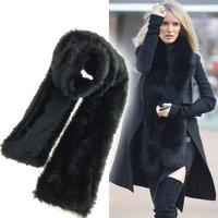 New Fashion 2014 High quality Faux Fur scarf  High quality women scarf 1.6M Fashion winter warm scarf