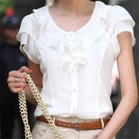 Brand Fashion Blouse Shirt S-XXXXL 5XL Plus Size White Color Roupas Casual Tops Body OL Cheap Women Clothing Blusas Femininas