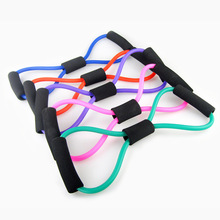 To hold Training Bands Tube another Exercise for Yoga 8 Type Fashion Body Building Fitness Equipment