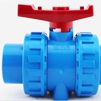 aquarium tube ball valve connector, blue color, inner diameter 20mm 25mm 32mm, for tube DIY