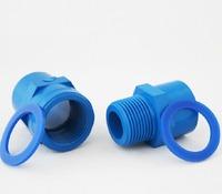 aquarium tube connector, blue color, 32mm diameter, for tube DIY