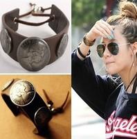 Bracelets Fashion jewelry popular fashion lady vintage PU leather beauty design