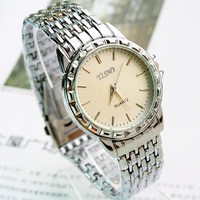 New men stainless steel watches alloy strap wristwatch casual men quartz watch mens watches clock relogio masculino AB050