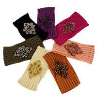 2014 New Knit Frozen Applique Bead  Rhombus cashmere yarn headband Headwrap Hair Accessories Hairband Accessory Tiara For Womens
