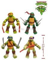New 12cm Teenage Mutant Ninja Turtles PVC action figure 4pcs/set Collection Toys children toy gift