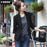 New 2014 Fashion Autumn Slim Style Solid Ladies Casual Women Blazers Korean Style Slim Women Coat Free Shipping n5038