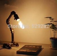 Retro industrial iron character bedroom light pipe creative bar desk lampbar lamptable lamp led 3w 90-220w