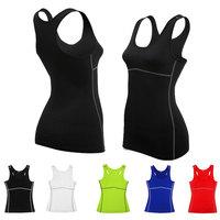 Ladies Womens Leisure Stretch Tights Shirt Bodyshaper Tank Top Tee Shirt for Gym Running Sports Yoga
