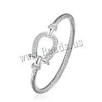 Free shipping!!!Brass Bangle,Cheap Jewelry, , real silver plated, micro pave cubic zirconia, nickel, lead & cadmium free, 19mm
