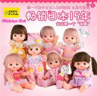(1pcs) retail  H25CM  Genuine Mellchan Doll super cute Hair change color with Temperature baby Bathing companion