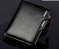 High Quality Male Genuine Leather Wallet Brief Short Men Wallets Grid Male Purses With Coin Bag Money Clip Clutch Purses