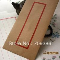 Chinese traditional style coffeex kraft paper envelope, 50pcs/lot