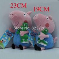 2 pcs/lot New 19-23cm Cute Peppa Pig Baby toy With George Pig Plush Doll Toy Stuffed Plush Cartoon Dinosaur Plush Kids Gift