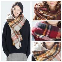 3 Color Hot Sale Soft Large Tartan Checked Plaid Blanket Scarf Wrap Shawl Cape Bloggers Favor 140X140CM