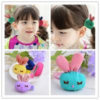 Free Shipping 20pcs/lot Child hair Headband Rabbit Elastic Hair rope for girls Newborn Infant Toddler Hair Bands p2