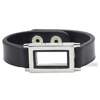 2015 New ! Superior quality leather bracelet locket Floating charm lockets FL084