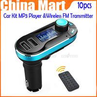 New Arrival Car Kit MP3 Player Wireless FM Transmitter Modulator dual USB interface,free shipping &drop shipping