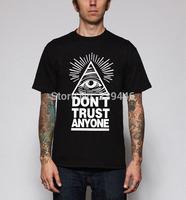 EYE OF PROVIDENCE Print T Shirts Men Summer Casual Punk Rock T-shirts Fashion Loose Short Tshirts Camisas