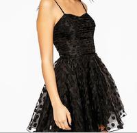 Sling dot organza tutu princess dress was thin folds new halter dress