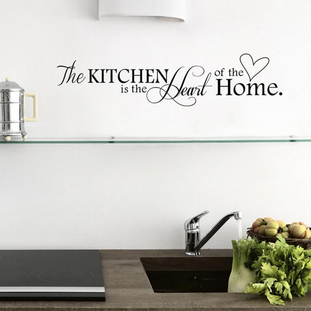 Cu3 Nieuwe Keuken Home Brief Hart Patroon Pvc Afneembare Muursticker Home Decor In Cu3