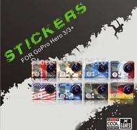 American / UK / France / German / European Union Flag bunting Case Sticker gopro Camera Stickers For Gopro Hero 3 3+