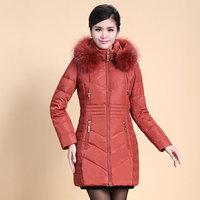 2014 Winter Thicken Warm Woman Down jacket Coat Parkas Outerweat Luxury Hooded Raccoon Fur collar Mid Long Plus Size 4XXXXL