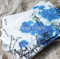20pcs/lot 17.5*12.5CM Chinese blue Ink painting translucent Scrapbooking Paper Envelopes Vintage Mini Envelope Color
