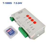 T-1000S LED Controller Pixel RGB Controller With SD Card Support DMX512 for WS2801 WS2811 LED Pixel and Magic RGB 5050 LED Strip