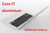 13.3inch aluminium laptop core I7 notebook computer 256GB SSD 4GB RAM 8400mAh battery USB 3.0 HDMI