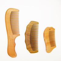 Natural Wooden Comb 3Pcs/Set 1 Sandalwood Comb + 2 Peach Wood Upscale Wooden Comb Portable Combs Free To Send Bag