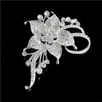 Rhinestone Brooch Shiny Flower shapes Bridesmaid Flower Girl Wedding Fashion jewelry C1389