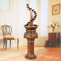 Free shippingLai Sheng / European pastoral water / desktop feng shui bonsai / home decoration resin technology fountain 084R