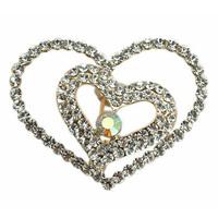Romantic Valentine Love Heart Brooch Pin