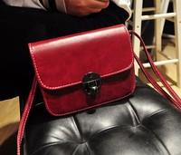 2014 vintage MINI women bag one shoulder cross-body women's handbag fashion cross-body pu leather bag