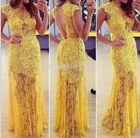2014 Vestidos De Fiesta, Long Sleeve women casual Dresses, Party Dress, sexy lace dress,Vestidos