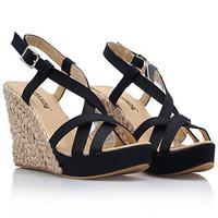Wedges Sandals Women Plus Size 30-43 Beach Sandals, 2015 Hot Bohemia High Heel Sandals,Platform 2.5cm Summer Shoes Black