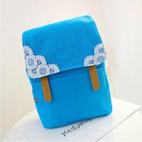 Canvas Candy Color Lace Women Preppy School Backpacks Snowflake Casual Women Laptop Backpack Bolsas Mochilas Femininas