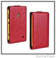 Retro Crazy Horse Leather Flip Cover Case for Nokia Lumia 520 521