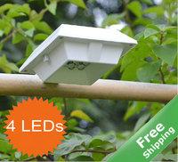 Solar wall light solar fence light+ 100% solar power+4 bright LEDs+ Free shipping