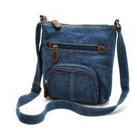 Good quality Classic European and American style casual bag before tannic style blue denim cloth bag shoulder diagonal handbags