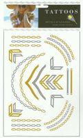 fashion temporary tattoo paper, gold silver tattoo, jewelry tattoo, mixed designs 3pcs a lot  free shipping