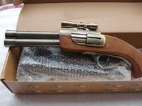 DH-AN112 double circular wooden handle metal windproof lighter